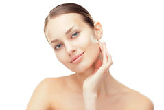 Beautiful young woman with healthy clean skin Royalty Free Stock Photo