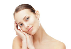 Beautiful young woman with healthy clean skin Royalty Free Stock Images