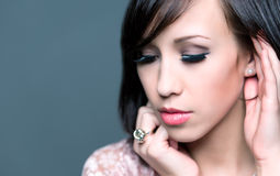 Beautiful young woman with healthy face and clean skin Royalty Free Stock Image