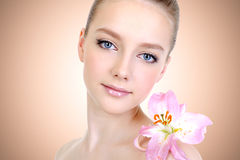 Beautiful young woman with healthy skin Royalty Free Stock Image