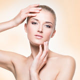 Beautiful young woman with healthy skin. Royalty Free Stock Photography