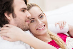 Beautiful young woman with her husband Stock Photo