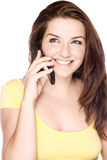 Beautiful young woman on her phone Royalty Free Stock Photos