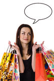 Beautiful young woman with her shopping bags Royalty Free Stock Images