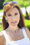 Beautiful Young Woman In Her Thirties. Outdoor portrait of a beautiful young brunette woman in her thirties Royalty Free Stock Image