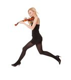 Beautiful young woman holding violin Stock Photography