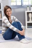 Beautiful young woman at home Royalty Free Stock Photo