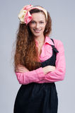 Beautiful young woman Housewife Royalty Free Stock Photos