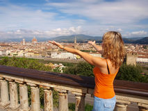 Beautiful Young Woman In Florence Stock Photography
