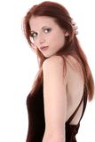 Beautiful Young Woman In Velvet Dress Royalty Free Stock Photos