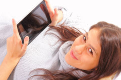 Beautiful young woman with ipod Stock Photos
