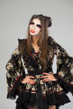 Beautiful young woman in kimono Stock Photos