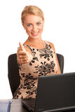 Beautiful young woman with laptop Royalty Free Stock Photo