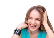 Beautiful young woman laughing Royalty Free Stock Image