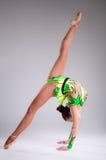 Beautiful young woman limber exerciser Royalty Free Stock Photos