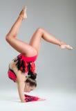 Beautiful young woman limber exerciser Stock Photography