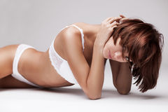 Beautiful young woman in lingerie Royalty Free Stock Images
