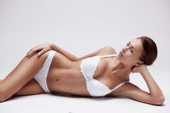 Beautiful young woman in lingerie Stock Photos