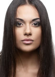 Beautiful young woman with long hair Royalty Free Stock Images