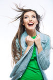 Beautiful young woman with long  hair. Royalty Free Stock Image