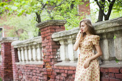 Beautiful young woman with long hair posing Royalty Free Stock Images