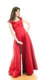A woman with a baseball bat Royalty Free Stock Image