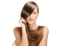 Beautiful young woman with long shiny hair Royalty Free Stock Photos