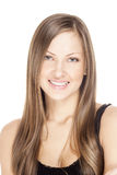 Beautiful young woman with long shiny hair Royalty Free Stock Image