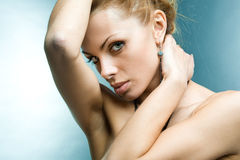 Beautiful young woman look Royalty Free Stock Image