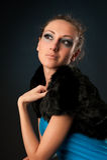 Beautiful young woman looking away Stock Image