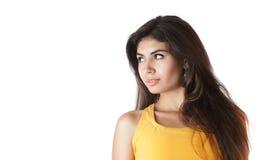 Beautiful young woman looking away Stock Photos