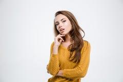 Beautiful young woman looking at camera Royalty Free Stock Photography