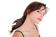 Beautiful young woman looking curious Royalty Free Stock Photography