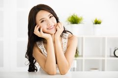 Beautiful young woman looking and smiling Royalty Free Stock Photo