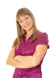Beautiful young woman looking to the camera Royalty Free Stock Image
