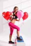 Beautiful young woman loves to work out Royalty Free Stock Photos