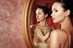 Beauty reflection Royalty Free Stock Image