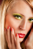 Beautiful young woman with make-up Stock Photo