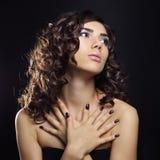 beautiful young woman with makeup Stock Photos