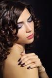 Beautiful young woman with makeup Royalty Free Stock Photos