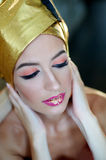 Beautiful young woman with makeup in the Egyptian style Royalty Free Stock Photos