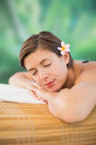 Beautiful young woman on massage table Royalty Free Stock Photos