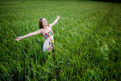 Beautiful young woman in meadow Royalty Free Stock Image