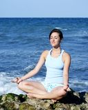 Beautiful young woman meditating Royalty Free Stock Photo