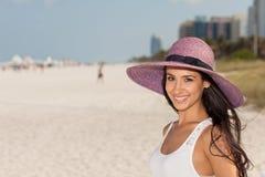Beautiful Young Woman in Miami Beach Royalty Free Stock Photo