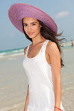 Beautiful Young Woman in Miami Beach Royalty Free Stock Image