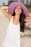 Beautiful Young Woman in Miami Beach Stock Photography