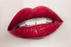 Beautiful young woman mouth Stock Photo