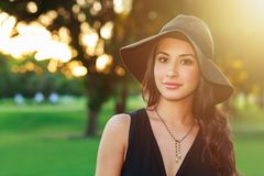 Beautiful young woman stock images