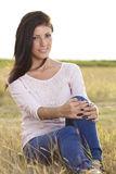 Beautiful young woman in nature Royalty Free Stock Photos